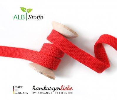 Bio-Flachkordel Rot von Hamburger Liebe by Albstoffe
