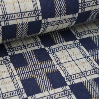 "Jacquard College Plaid ""nachtblau"""