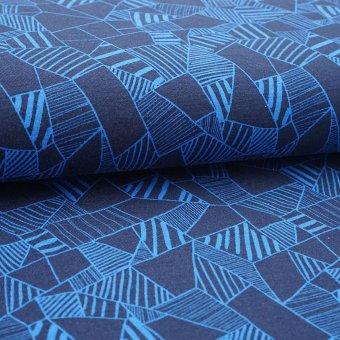"""Modal Jersey """"Fragmant"""" blau in blau"""