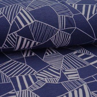 "Modal Jersey ""Fragmant"" nachtblau"