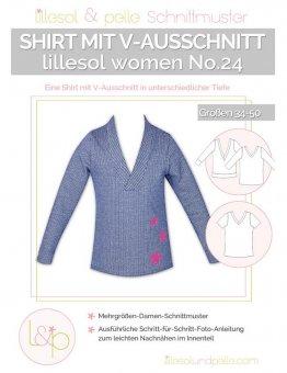 Lillesol No.24 Women Shirt m. V-Ausschnitt