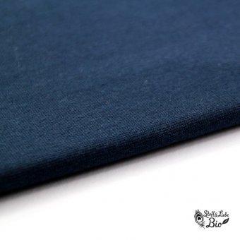 50 cm PAMUK Bündchen Schwarzblau - BIO