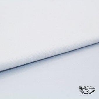 50 cm PAMUK Bündchen Weiß - BIO