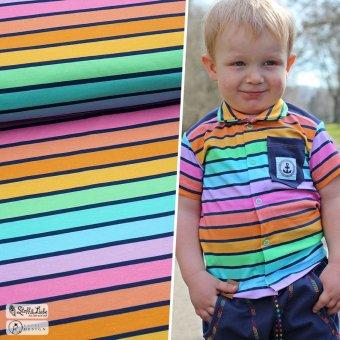 Reste: BIO Jersey Rainbow Stripes Large