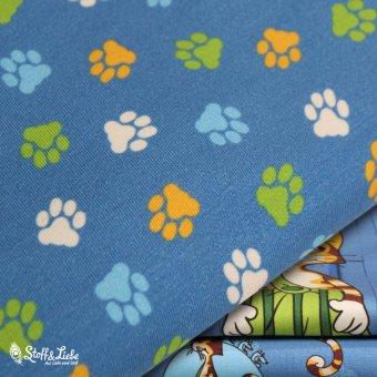 BIO Jersey - Katzenpfoten Blau