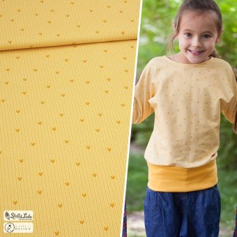 Sweat Knit Me HEARTS - Honey