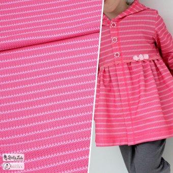 Bio Sweat Knit Me STRIPES - Bubblegum