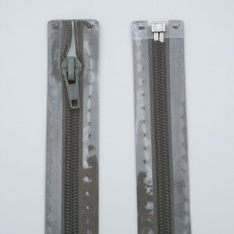 "Reißverschluss  ""teilbar"" S3 75cm ""GrauOliv"