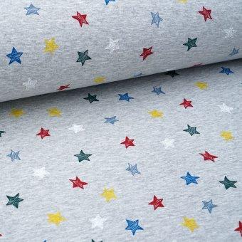 """HappySweatFleece """"Stars"""" grau meliert"""