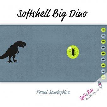 Softshell Big Dino - Panel Rauchblau