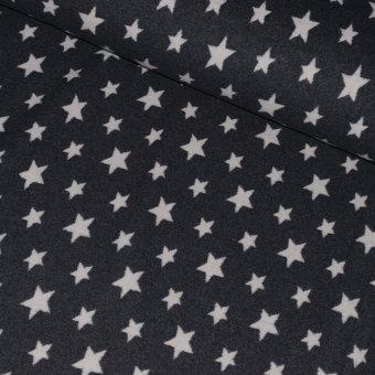 SALE !! Bio-Baumwollfleece STARS Anthrazit