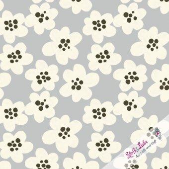 Streublumen BIG - Grau Jersey Lillestoff
