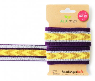 Bio-Strickband STRIPE ME ICON Purple-Gelb