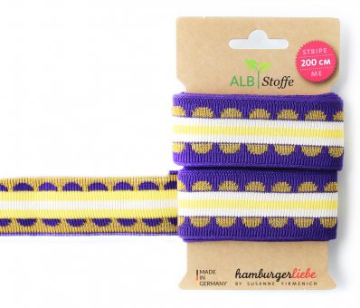Bio-Strickband STRIPE ME ICON Purple-Gold