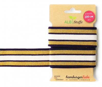 Bio-Strickband STRIPE ME GLAM Purple-Gold