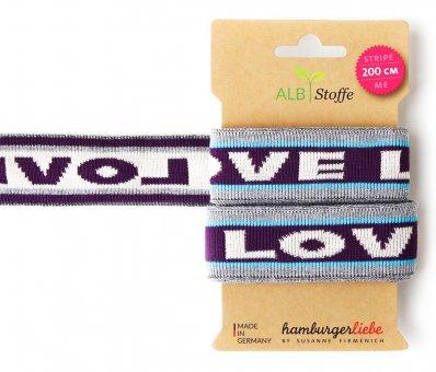 Bio-Strickband STRIPE ME ICON Love Aubergine