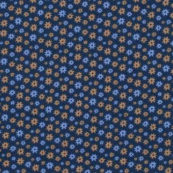 Popeline MATHILDA BLOOMS Blau
