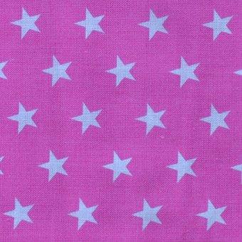 SALE: Multi Star Pink Webstoff