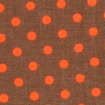 Poppy´s NEON DOTS Orange auf Taupe
