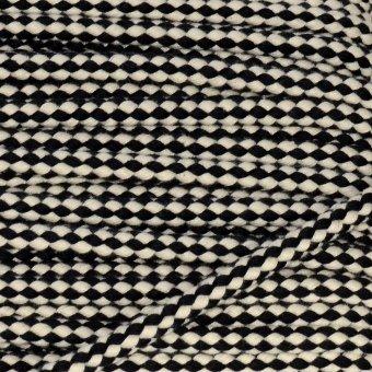 2 Color Cotton-Kordel Schwarz/Creme