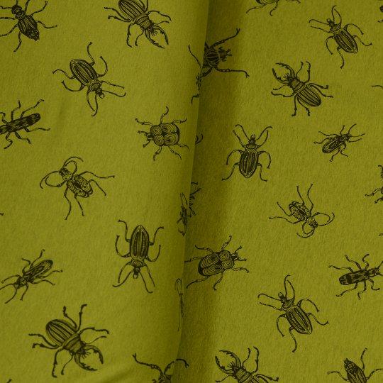 stoff liebe aus liebe wird stoff alpen fleece happybeetle wild olive stoffe online kaufen. Black Bedroom Furniture Sets. Home Design Ideas