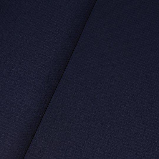 Waffel Piquet - Nachtblau