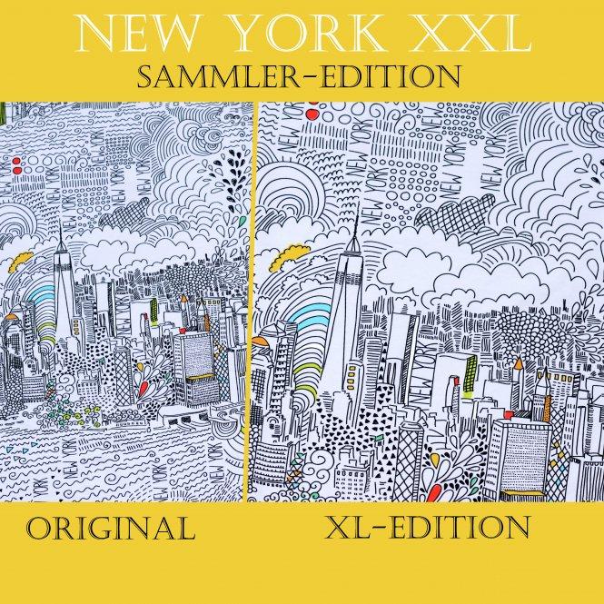 Jersey  Stoff Digitaldruck New York  1m