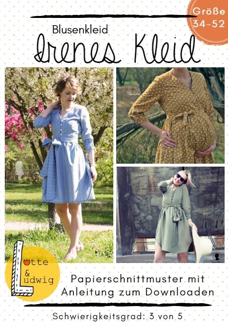 Stoffe Online Kaufen Stoff Liebe Papierschnittmuster Irenes Kleid By Lotte Ludwig